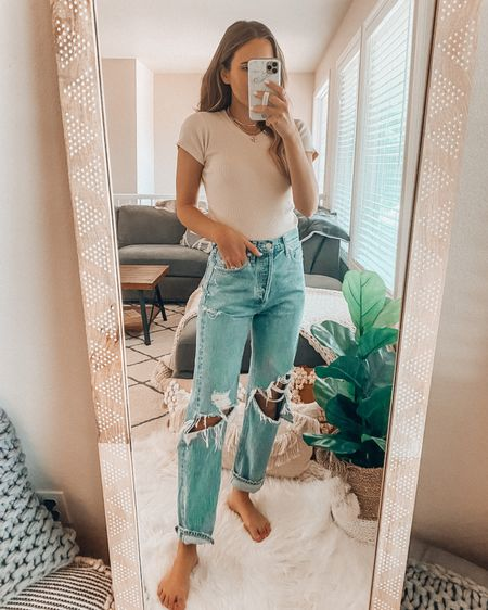 Forever 21 Try On💕 Wearing a small tee and size 24 denim (sized down one from normal 25) http://liketk.it/3hYFD @liketoknow.it #liketkit