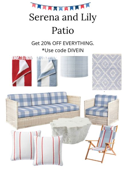 Serena and Lily patio furniture ENJOY 20% OFF EVERYTHING. *Use code DIVEIN  #Competition  #LTKSeasonal