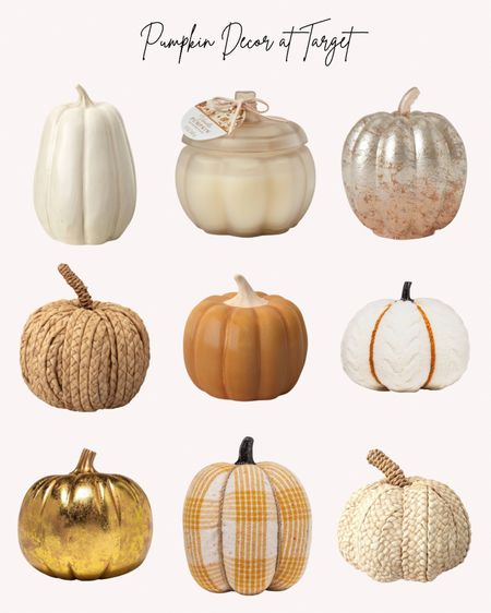 Pumpkins, pumpkin decor, decorations, Target, fall, autumn, Halloween   Follow me for more ideas and sales.   Double tap this post to save it for later    #LTKhome #LTKHoliday #LTKSeasonal