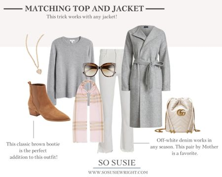 Matching top and jacket outfit inspo! Fall fashion, fall outfit inspo, fall jackets   #LTKSeasonal #LTKstyletip #LTKworkwear