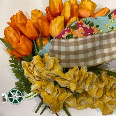 Spring Carrot wreath supplies!   #LTKhome #LTKSeasonal #LTKfamily