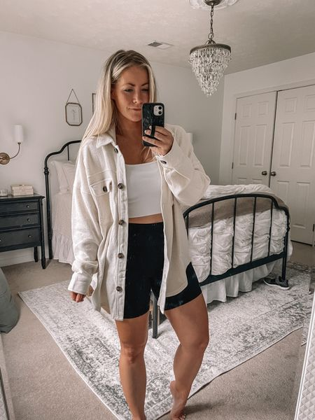 Loving this #shacket trend. This one is similar to the free people ruby jacket but for under $50!!    #LTKstyletip #LTKunder50 #LTKunder100