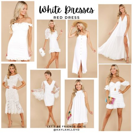 These stunning white dresses from Red Dress are great with that summer tan! http://liketk.it/3f6KU @liketoknow.it #liketkit #LTKunder100 #LTKstyletip