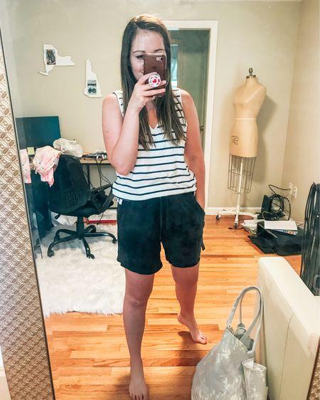 Stripes are navy, not black. Stay tts for comfy fit.  http://liketk.it/3gLkM #liketkit @liketoknow.it #LTKfit #LTKstyletip #LTKunder50