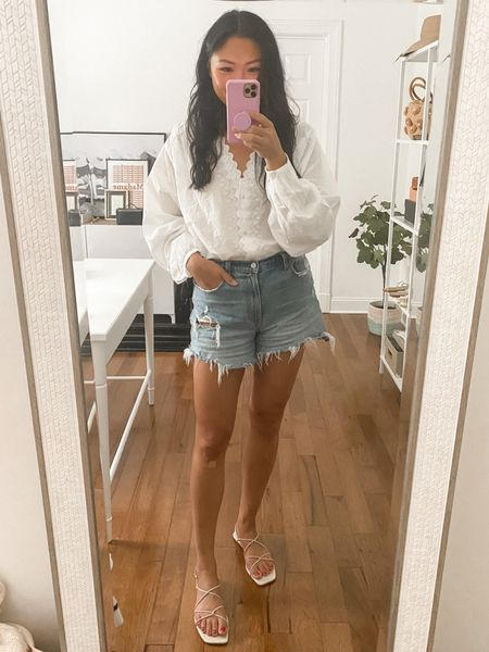 This top is exactly what I want to wear during these 70degree days. So flowy and feminine.   #LTKunder100 #LTKstyletip