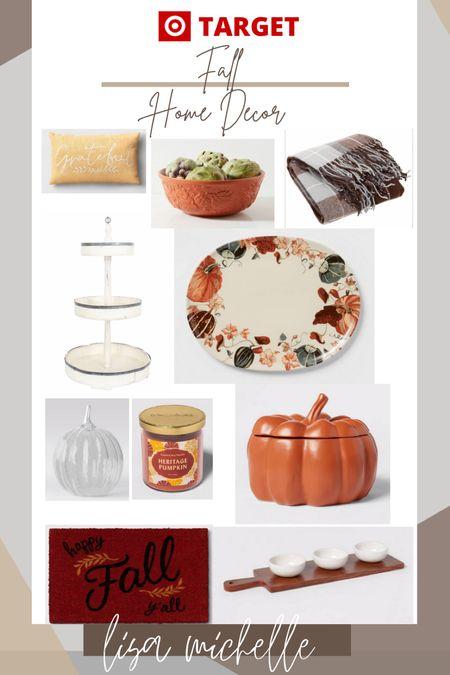 Fall home decor! Target fall home. Pumpkin decor. Fall decor. Tiered tray. Fall dishwasher. Fall throw. Happy fall y'all. #ltkfall #falldecor #pumpkindecor #targethome #targetfall   #LTKsalealert #LTKhome