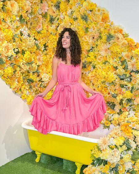 http://liketk.it/3fi8E #liketkit @liketoknow.it pink dress summer dresses #LTKunder100 #LTKunder50 #LTKstyletip