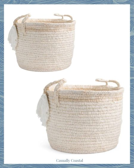 Loving these baskets for a nursery or playroom! There is a large and a small size! - marshalls home, marshalls finds, woven baskets, baskets for playroom, baskets for nursery, baskets for kids room  #LTKhome #LTKunder50 #LTKfamily