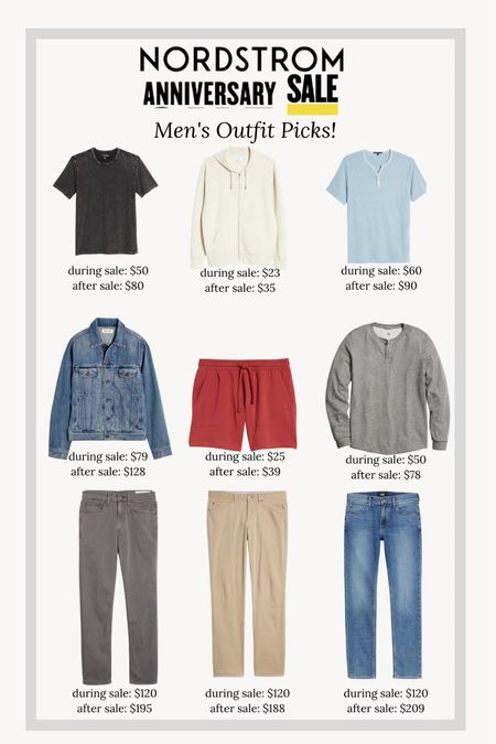 Nordstrom anniversary sale men's outfit picks!!   #LTKmens #LTKSeasonal #LTKunder100