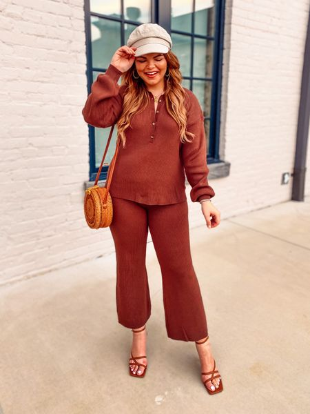 The best knit set in matching chocolate brown. So on trend for fall in more ways than one. I'm in a large in top and bottom and the fit is perfect. TTS    #LTKstyletip #LTKtravel #LTKunder100