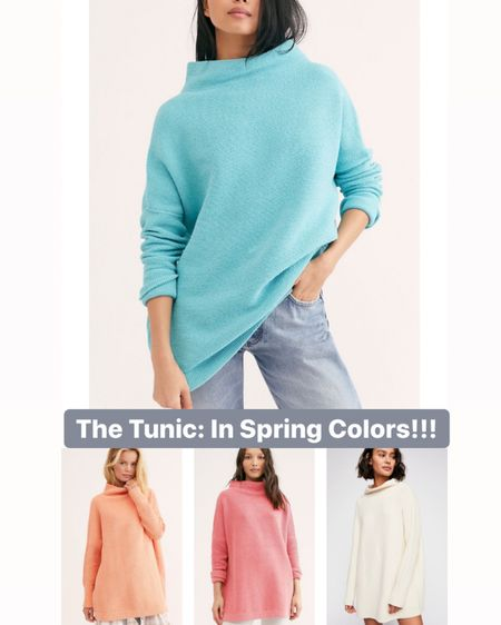 Cozy yet chic style.  The famous free people tunic is available in spring colors!  Sign me up! .  http://liketk.it/2NVUS #liketkit @liketoknow.it #StayHomeWithLTK #LTKMothersDay #LTKspring