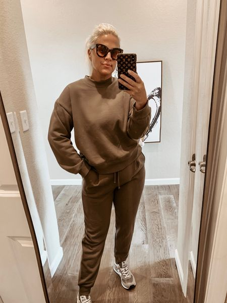 Monochrome casual outfit Athleisure wear Transition to fall  New Balance Sneakers Aviators  Wearing large Size 10/12  TTS       Follow me and style with me! I am so glad and grateful you are here!🥰 @lindseydenverlife 🤍🤍🤍     _________ #target #targetfinds #targetstyle #targetfashion #athleisurewear #sweats #loungewear #activewear #Leeannbenjamin #stylinbyaylin #cellajaneblog #lornaluxe #lucyswhims #amazonfinds #walmartfinds #interiorsesignerella #lolariostyle   Business Casual Old Navy Deals Walmart Finds Target Looks #GapHome Shein Haul Nordstrom Sale  Wedding Guest Dresses Plus Size Fashions Back to School Maternity Style Teacher Outfits Follow my shop on the @shop.LTK app to shop this post and get my exclusive app-only content!  #liketkit  @shop.ltk http://liketk.it/3kYo4