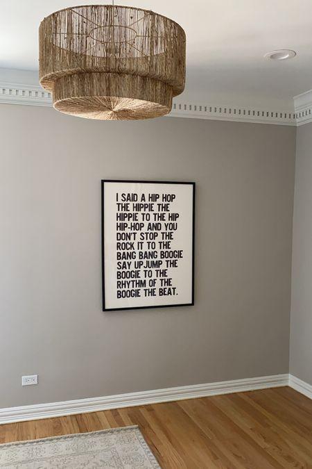 Linked Beckham's print, light fixture and rug here!   #LTKhome #LTKkids
