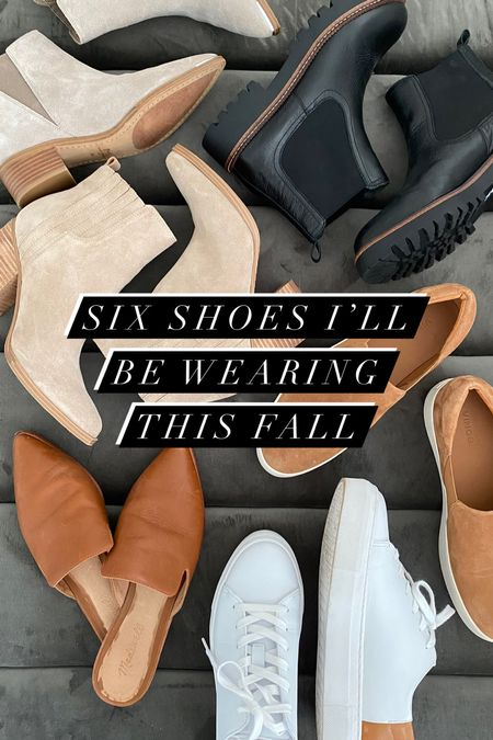 6 styles of shoes I'll be wearing this fall