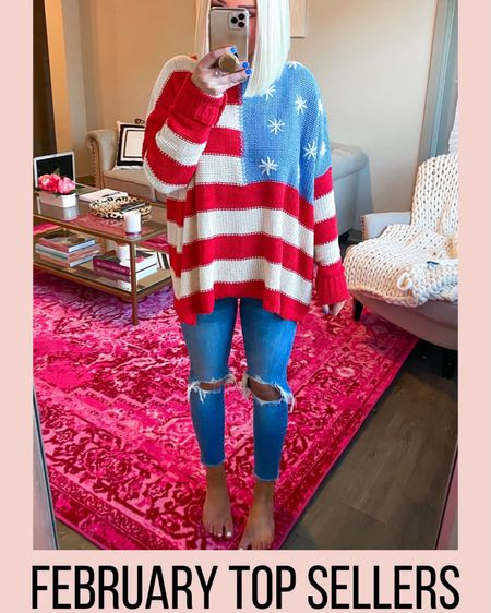 Betsy Flag Chenille Sweater! Wearing small. Preorder available!! http://liketk.it/2L9au @liketoknow.it #liketkit #LTKunder100 #LTKspring
