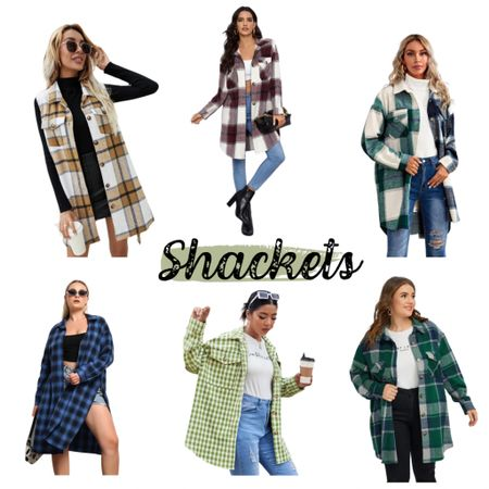 A Shacket is my fall must have and all of these are under $35 I have linked my favorites straight and plus size options   #LTKunder50 #LTKsalealert #LTKstyletip
