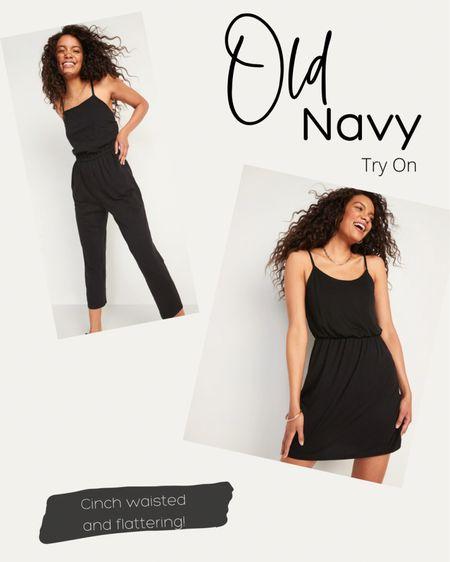 Little black dress, cinched waist dress, cinched waist romper, black romper, curve friendly, old navy finds, simple dresses.   http://liketk.it/3k2r8 #liketkit #LTKsalealert #LTKunder50 #LTKstyletip @liketoknow.it