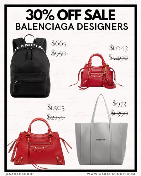 30% off sale on Balenciaga bags!? Sign me up! All of bags are on Bloomingdale's and only on selected styles.  #LTKstyletip #LTKeurope #LTKsalealert