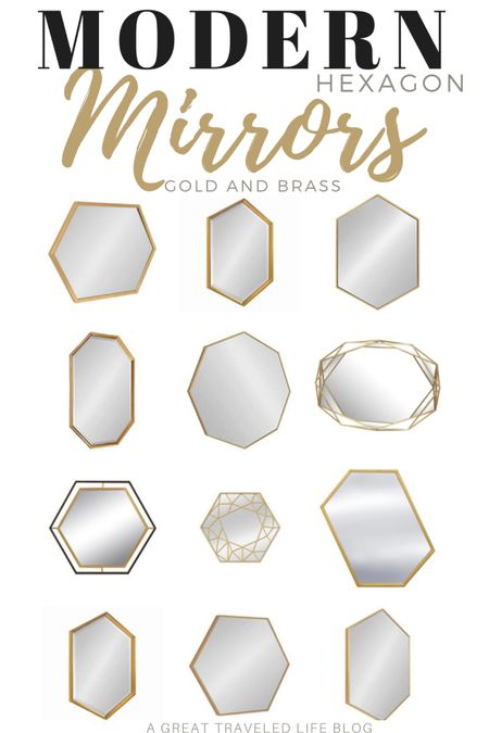 A hexagon mirror can add a modern element to a space. The clean lines of a hexagon mirror are simple and clean. A gold hexagon mirror is perfect to a bathroom remodel or would be a great accent to any home decor.    http://liketk.it/38zvL #liketkit @liketoknow.it #LTKhome #LTKunder50 #LTKunder100 @liketoknow.it.europe @liketoknow.it.brasil @liketoknow.it.family @liketoknow.it.home Shop your screenshot of this pic with the LIKEtoKNOW.it shopping app