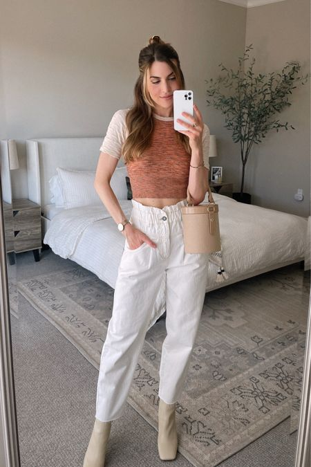 Chic & casual outfit idea for spring. Love the square-toe boots!! http://liketk.it/3bHjG #liketkit @liketoknow.it #LTKunder100 #LTKstyletip #LTKSpringSale