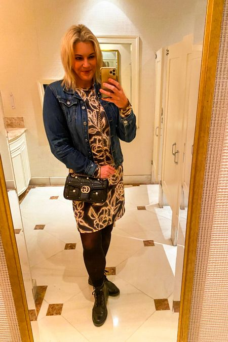 Love getting ready for #fallstyle with a #denimjacket and #combatboots   #LTKitbag #LTKSeasonal #LTKunder100