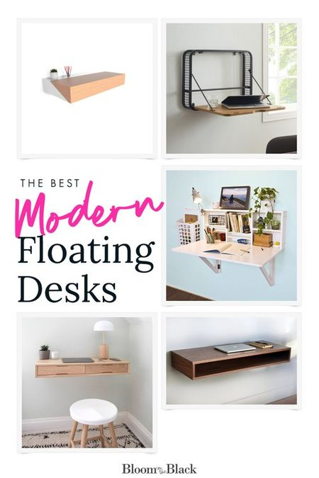These modern floating desks are the perfect work from home solution if you have a small home office.  #wfh  #LTKhome #StayHomeWithLTK