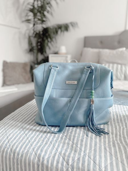 Obsessed with my Indigo & Silver Shaylee Bag from LilyJade! It's not just a diaper bag!   #LTKstyletip #LTKitbag #LTKbaby