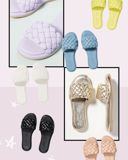 http://liketk.it/3ekG9 #liketkit @liketoknow.it Love these puffy woven slide sandals! So many cute colors!!!