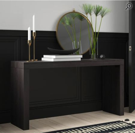 Black console table; such good quality too!     #LTKhome