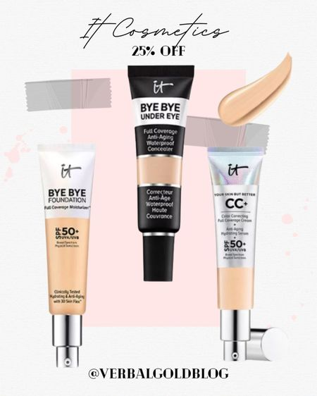 ltk sale favorites - it cosmetics sale - under eye concealer - bye bye foundation - it cosmetics concealer - eye bags concealers - makeup must haves - daily deals - beauty gifts - beauty gift guide - christmas gifts for beauty lovers - early gifting sale - full coverage - oily skin   #LTKcurves #LTKbeauty #LTKSale