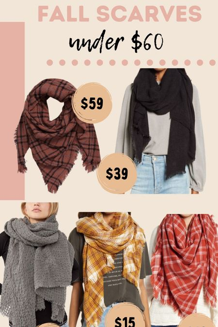 Fall scarf options under $60 from Nordstrom! Great gift ideas!   #LTKGiftGuide