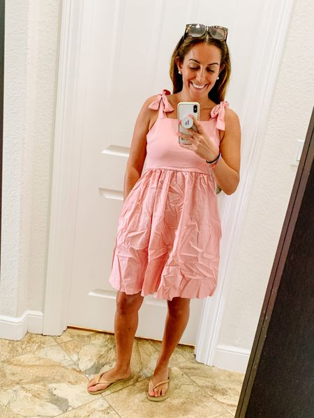 Living in Florida it's always a staple of mine to have a cute & quick dress to throw on to run errands or pick up the kids! Here's a flirty pink one from Amazon at an incredible price point! 👗  #LTKfamily #LTKstyletip #LTKunder50
