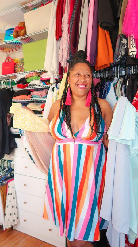 Striped rainbow dress #SummerFashion http://liketk.it/3jo9y @liketoknow.it #liketkit #LTKunder50 #LTKstyletip