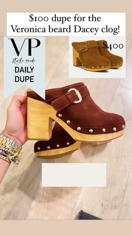 Veronica beard clog dupe for $100, fall shoes, fall shoe trends, suede clogs, women's shoes   #LTKshoecrush #LTKstyletip #LTKunder100