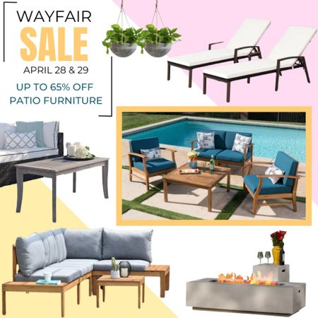 One of my favorite things to do in the summer is relax outside or have friends over for a cookout in the backyard! That's why I was so excited to learn about the Wayfair Way Day Sale with patio furniture up to 65% OFF (April 28 & 29). http://liketk.it/3e4Nb Shop all of my favorite patio pieces today! #liketkit @liketoknow.it #LTKsalealert #LTKfamily #LTKhome @liketoknow.it.home Download the LIKEtoKNOW.it shopping app to shop this pic via screenshot