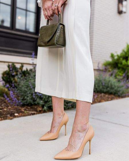 Nude heels are one of those things that make work looks and adding a little powerful feel to your outfit so much easier, but sometimes they're SO uncomfortable. These...not so. Sarah Flint pumps are beautiful + don't make your feet ache; a win win in my book.  Use code SARAHFLINT-BANATALIEY for $50 off your first pair. 🤍 ✨   #LTKSeasonal #LTKshoecrush