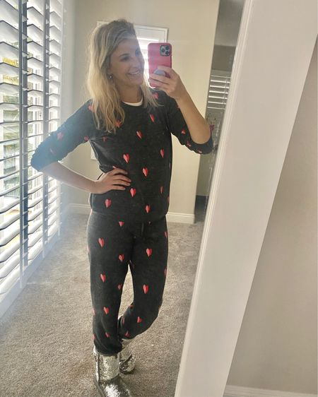 I'm not saying you NEED this cute Vday loungewear set. But I did get stopped 5X today while shopping at Trader Joe's. AND it's on sale for less than I paid for it for a limited time!   http://liketk.it/35k70 #liketkit @liketoknow.it #loungewear #pajamas #vday #valentinesday