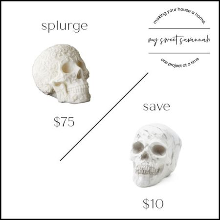 Get ready for spooky Halloween decor with this marble like skull! Classy and chic and still a bit scary!   #LTKstyletip #LTKhome #LTKSeasonal