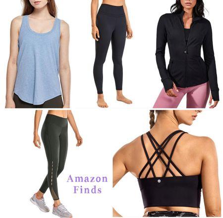 Amazon finds. Amazon prime. Leggings. Exercise clothes. Sports bra.   #LTKstyletip #LTKunder50 #LTKfit