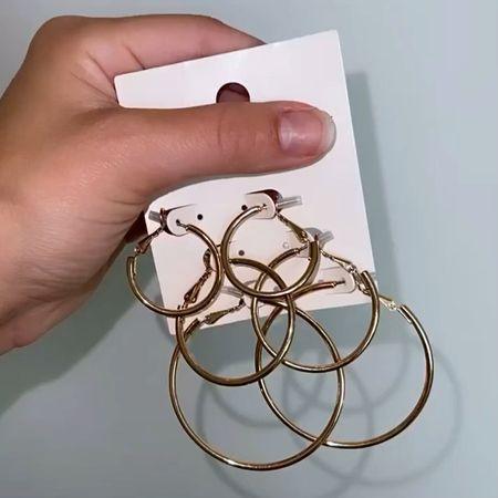 Gold hoop earrings      #LTKsalealert #LTKstyletip #LTKGifts