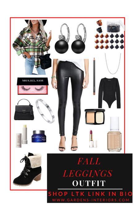 Faux leather leggings and a shacket   #falloutfit #fauxlratherleggings #leggingsoutfit #commandoleggings #amazonfinds #abercrombieandfitch #abercrombie #bodysuit #abercrombiebodusuit #fallboots  #LTKshoecrush #LTKsalealert #LTKstyletip