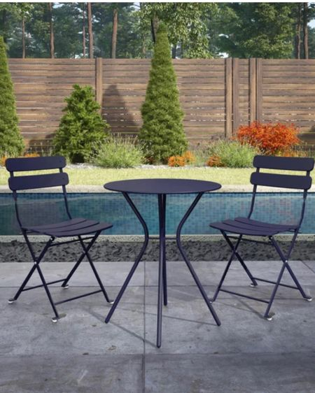 Bistro Set For Two   Sale.  Bistro.  Dinning.  Outdoor.  White. Blue. Red. Black. Metal table.  Bistro table.  3 piece table.  Date night. All fresco dining.  Small table.  Table for two.  Color table. Outside table.  Porch table.  Patio table.  Outdoor eating.  Way Day.  Sale.  Entertaining for two.  Cozy table.  Outdoor set.     http://liketk.it/3e27n #liketkit #LTKsalealert #LTKhome @liketoknow.it.home @liketoknow.it