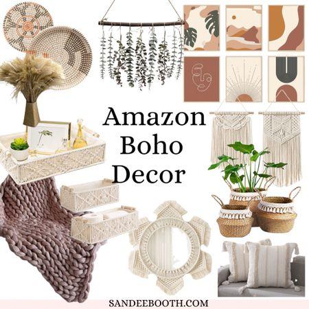 Amazon boho home decor finds under $50  #LTKunder50 #LTKsalealert #LTKhome