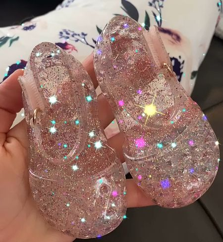 The CUTEST little jellly sandals for baby!! Spring shoes, summer shoes, baby shoes, toddler shoes, glitter sandals!   #LTKshoecrush #LTKbaby #LTKkids