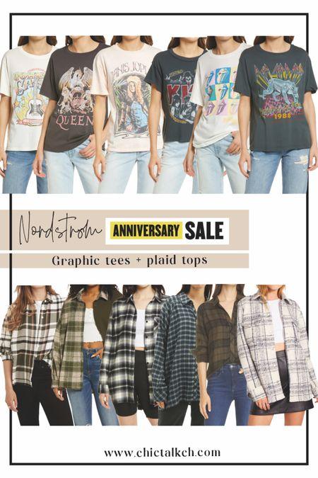 Graphic tees and plaid shirts from the NSale!   #LTKsalealert #LTKstyletip #LTKunder50