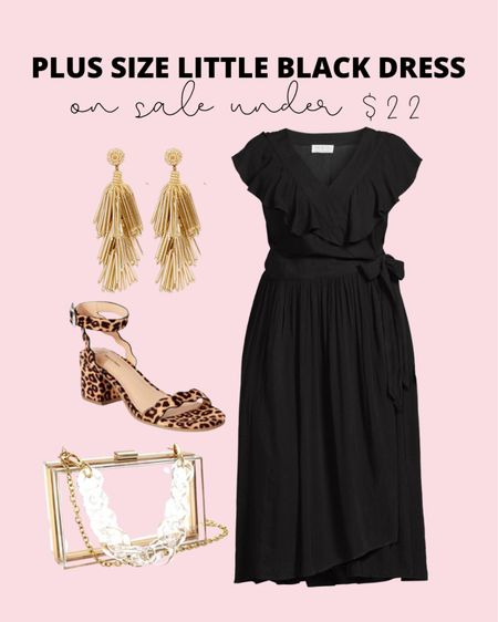 This best selling plus size little black dress is now on sale! If you need a wedding guest dress or plus size cocktail dress, this would be a great option at under $22, and it goes up to size 5X!   #LTKSeasonal #LTKsalealert #LTKcurves