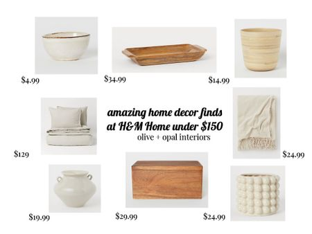 H&M home decor finds, neutral decor, neutral accessories, affordable home decor  H&M new home arrivals are amazing and affordable!  #LTKhome