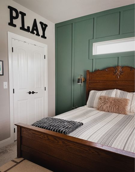 Boys room decor 💚 Striped bedspread   coverlet for boys room   toddler room decor   #LTKfamily #LTKkids #LTKhome