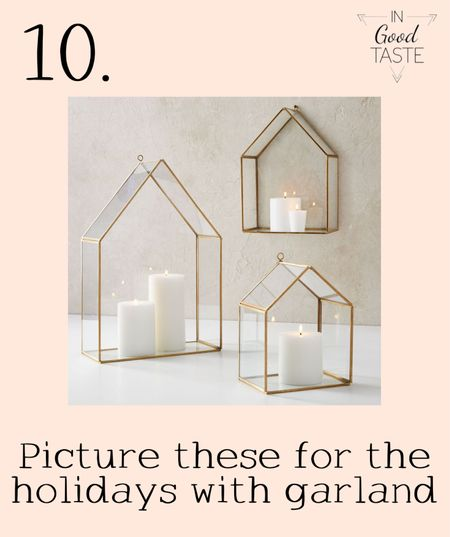 I love these candle homes! How beautiful would they be with pine cones or green garland for the holidays! Get it before the price goes back up!  #LTKhome #LTKsalealert