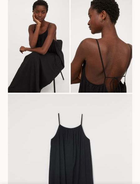 Black H&M Maxi Dress - great for traveling in!   #LTKunder100 #LTKunder50 #LTKtravel